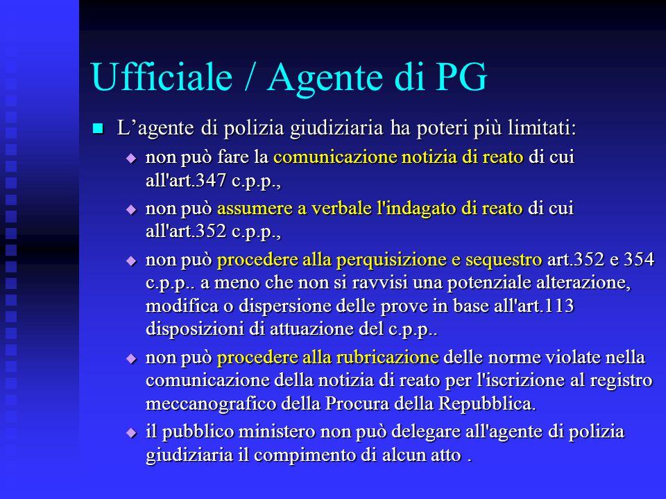 Ufficiale / Agente di PG