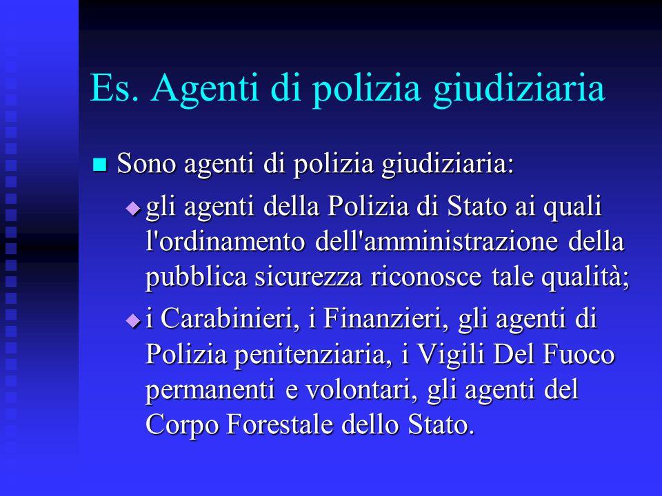 Es. Agenti di polizia giudiziaria