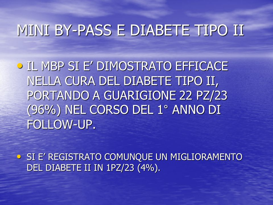 MINI BY-PASS E DIABETE TIPO II