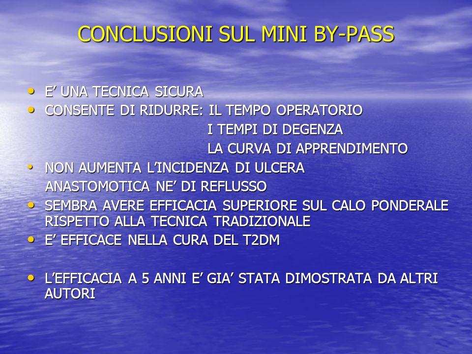 CONCLUSIONI SUL MINI BY-PASS