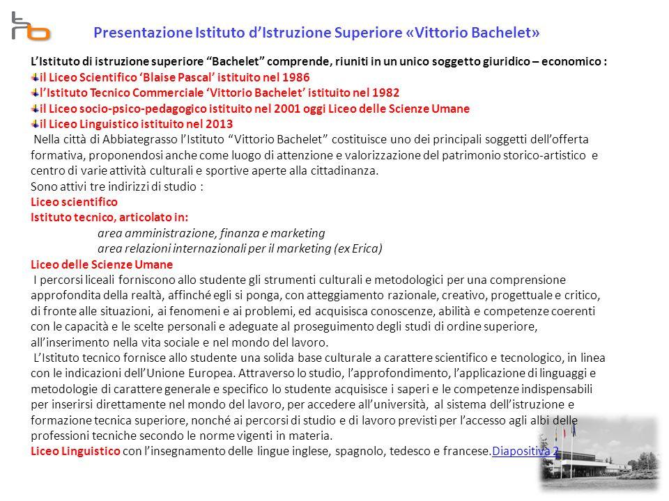 Presentazione Istituto d'Istruzione Superiore «Vittorio Bachelet»