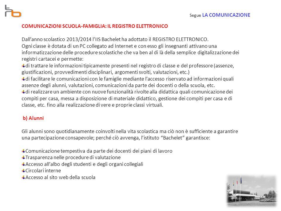 COMUNICAZIONI SCUOLA-FAMIGLIA: IL REGISTRO ELETTRONICO