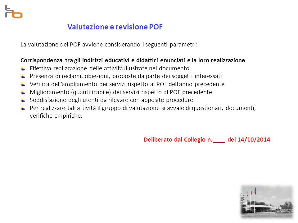 Valutazione e revisione POF