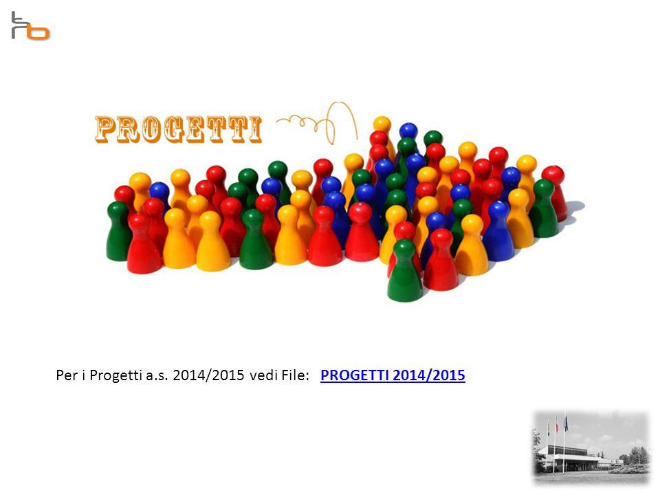Per i Progetti a.s. 2014/2015 vedi File: PROGETTI 2014/2015