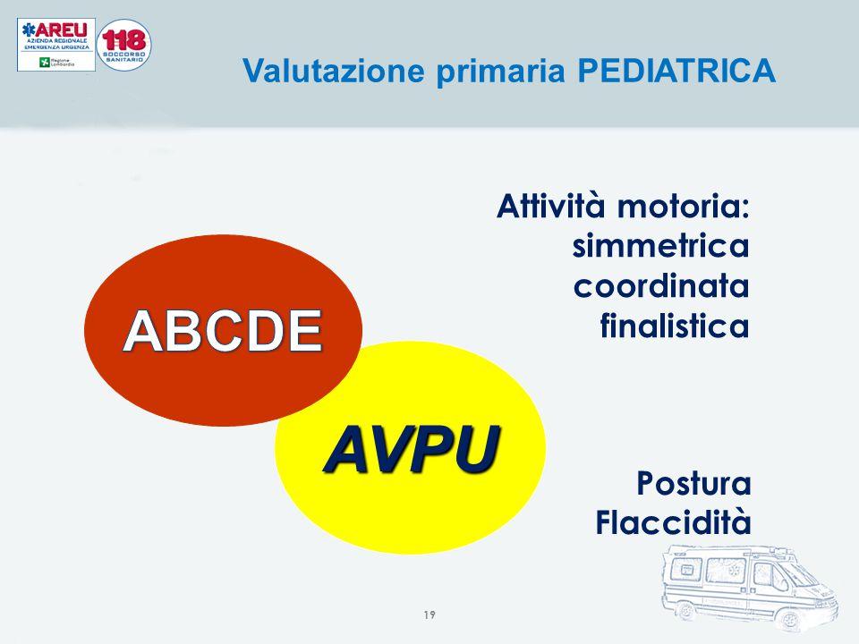 Valutazione primaria PEDIATRICA