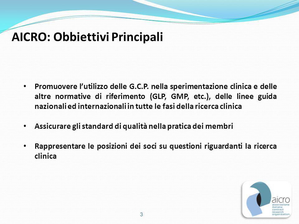 AICRO: Obbiettivi Principali