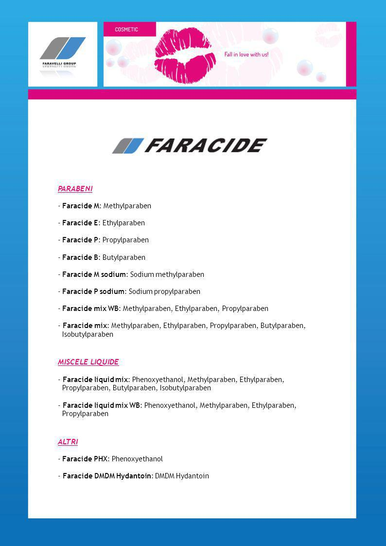 PARABENI MISCELE LIQUIDE ALTRI Faracide M: Methylparaben