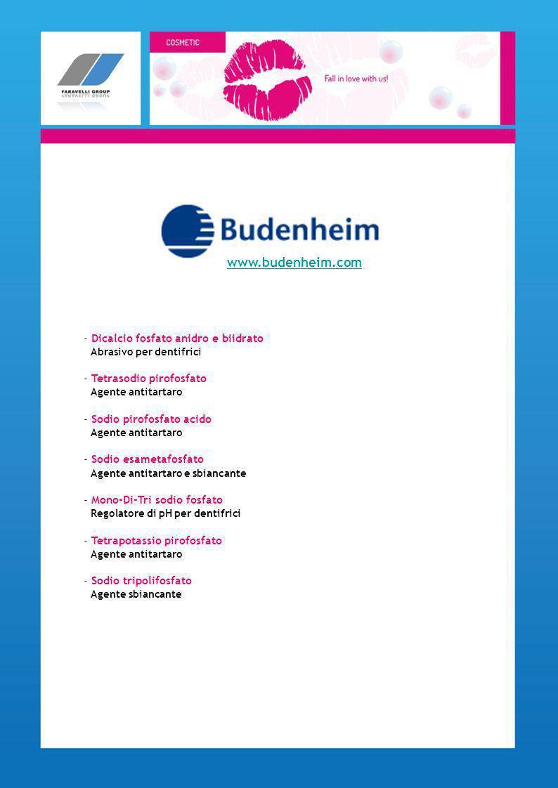 www.budenheim.com - Dicalcio fosfato anidro e biidrato