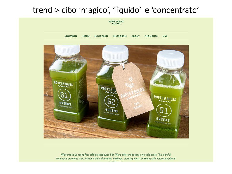 trend > cibo 'magico', 'liquido' e 'concentrato'