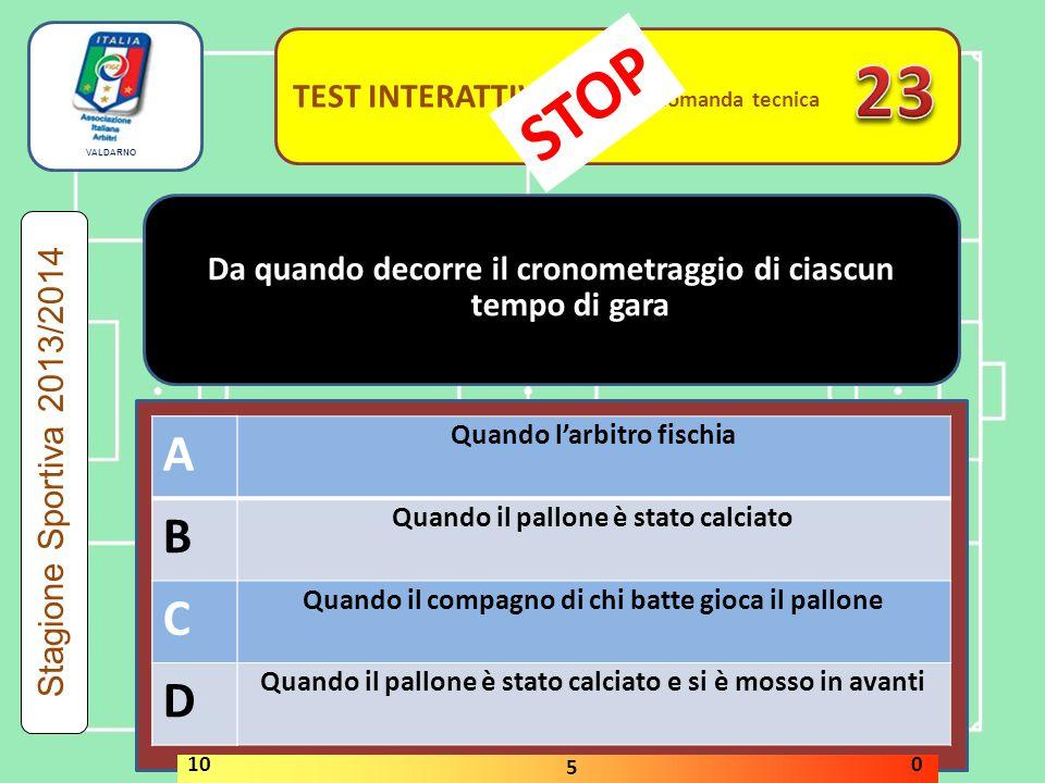 23 STOP A B C D A B C D TEST INTERATTIVI domanda tecnica