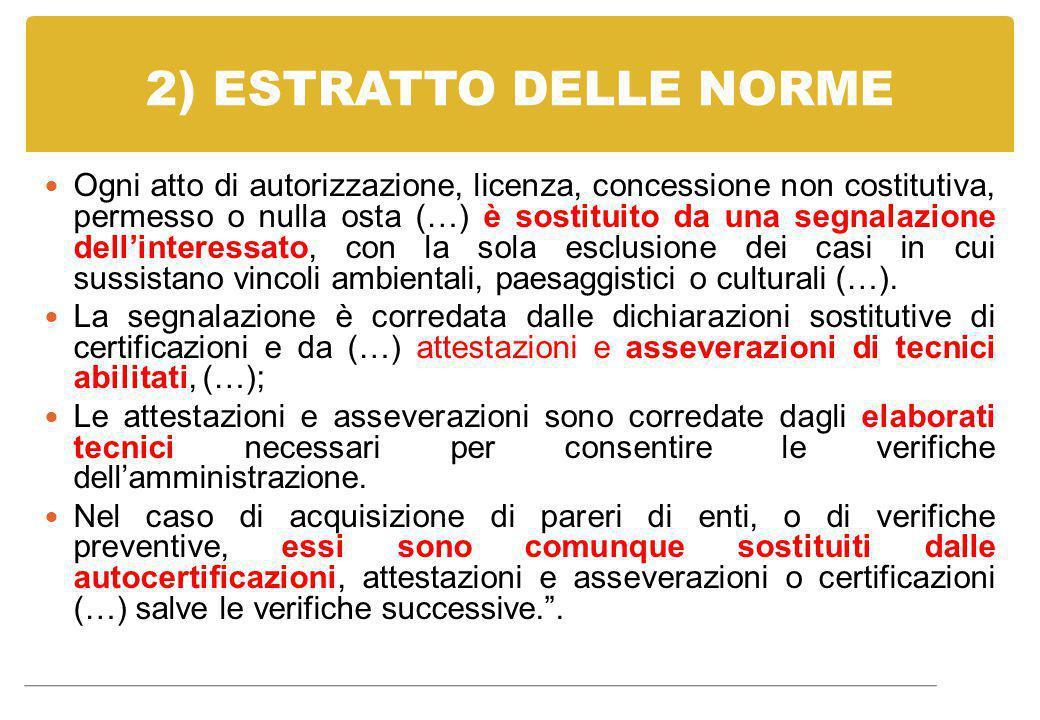 2) ESTRATTO DELLE NORME