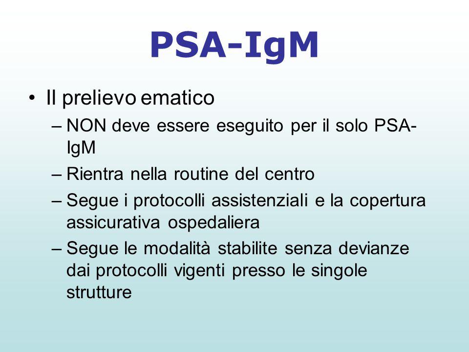 PSA-IgM Il prelievo ematico