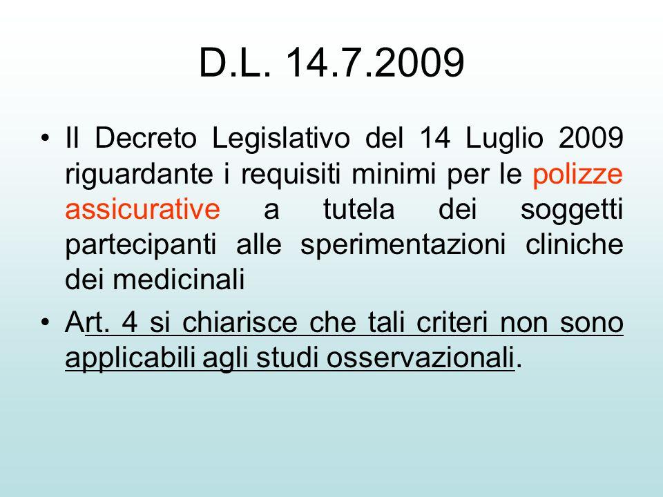 D.L. 14.7.2009