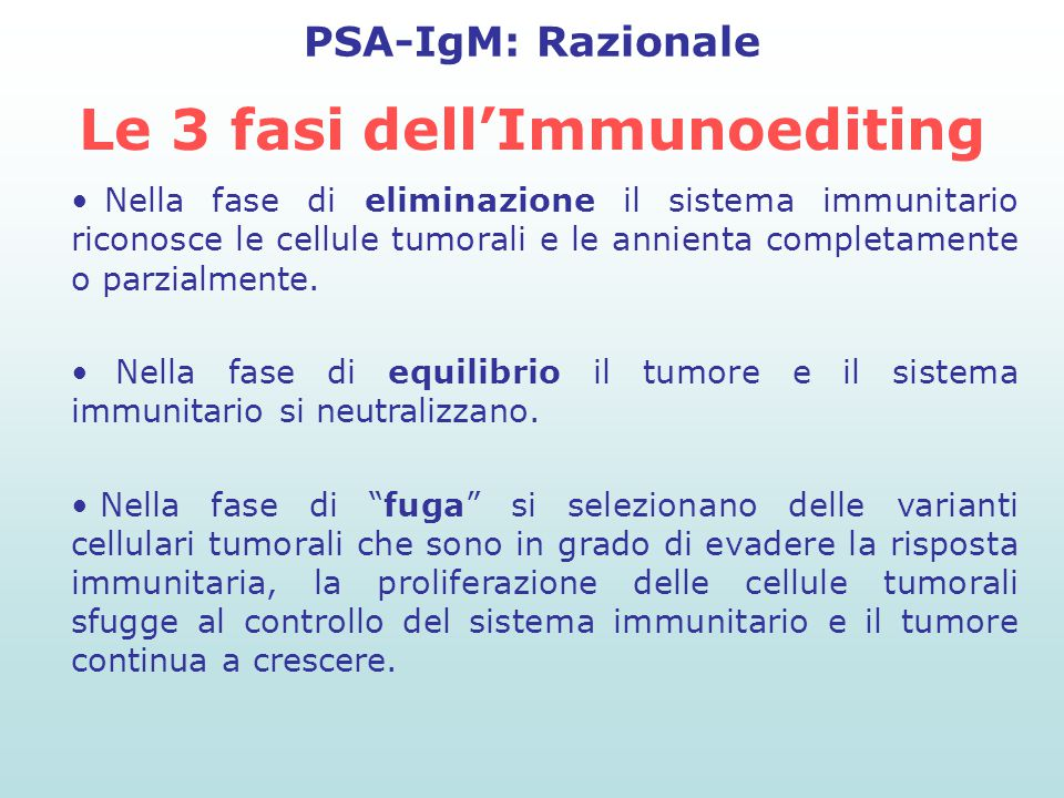 Le 3 fasi dell'Immunoediting