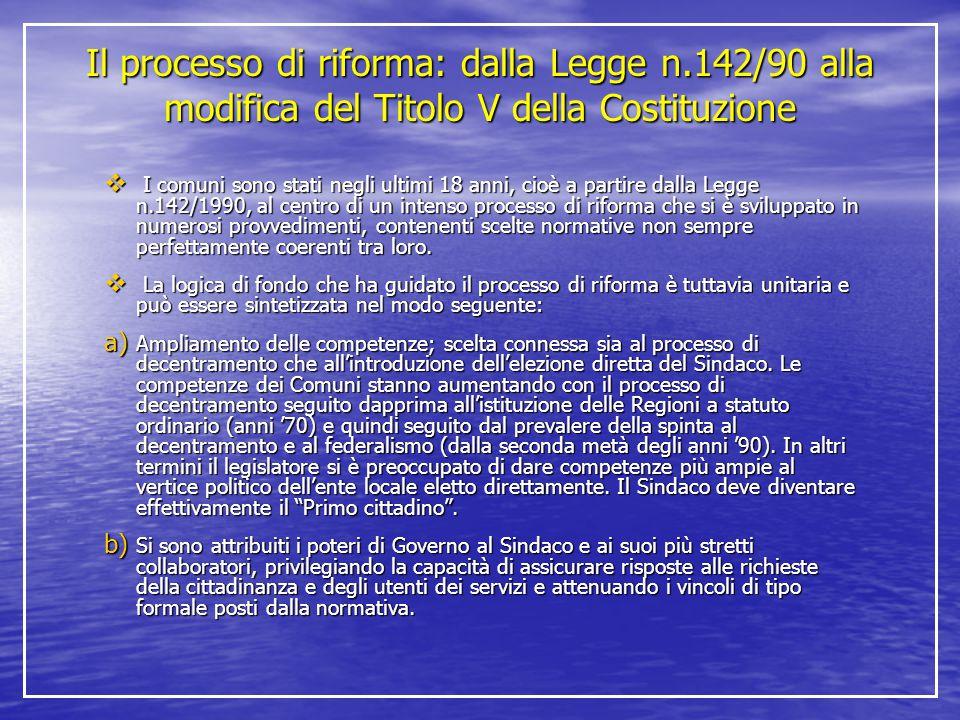 Il processo di riforma: dalla Legge n
