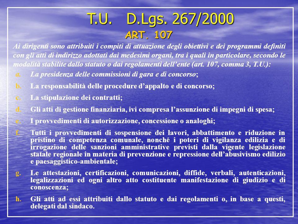 T.U. D.Lgs. 267/2000 ART. 107.