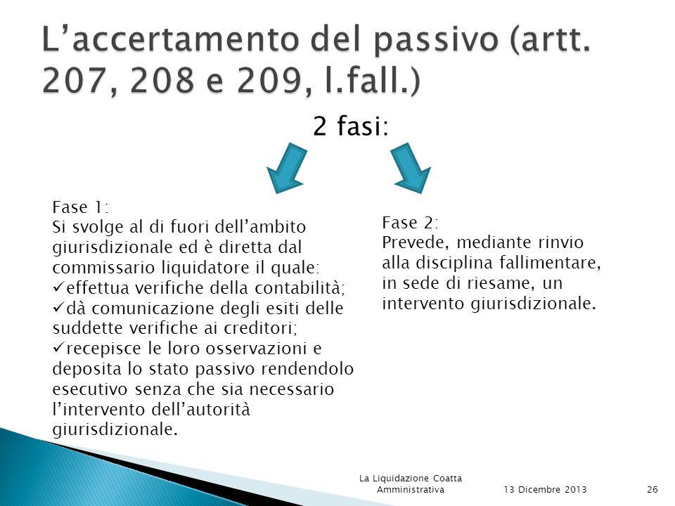 L'accertamento del passivo (artt. 207, 208 e 209, l.fall.)