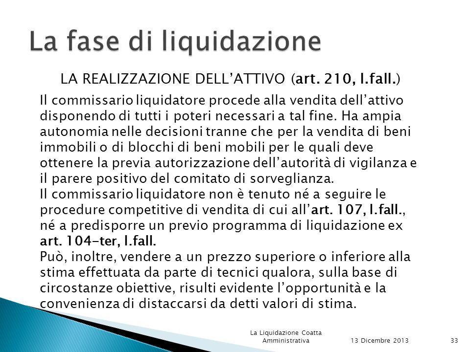 La fase di liquidazione