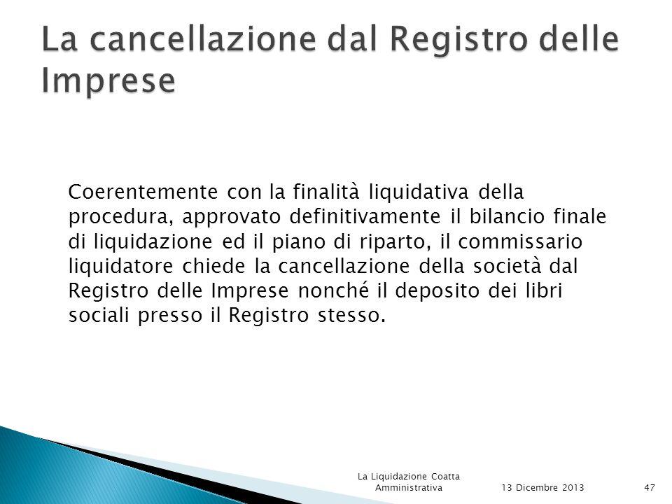 La cancellazione dal Registro delle Imprese