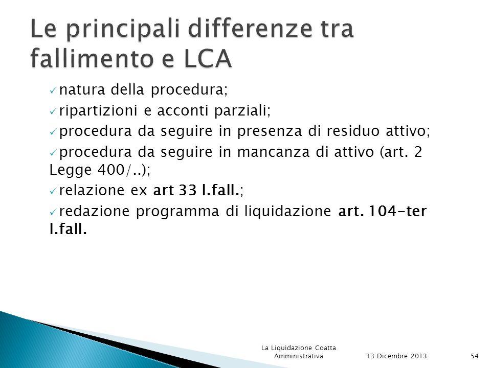 Le principali differenze tra fallimento e LCA
