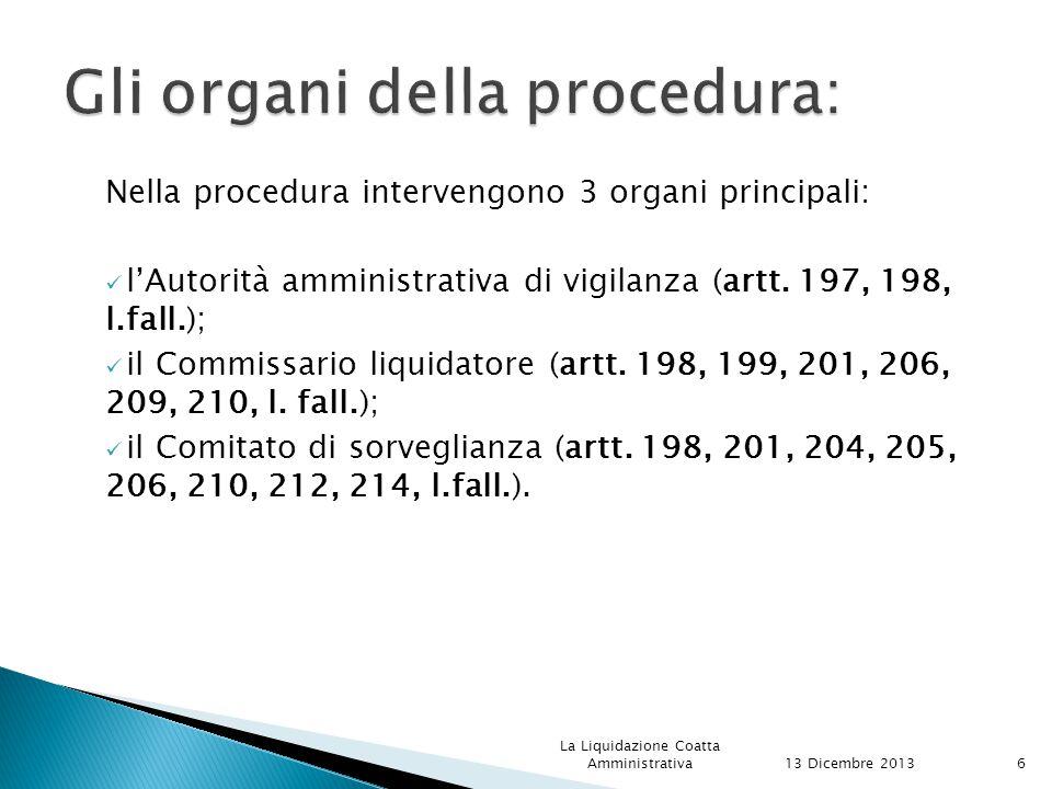 Gli organi della procedura: