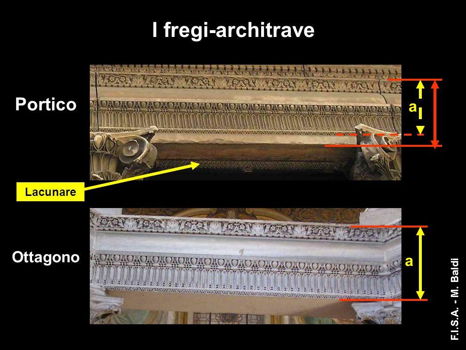 I fregi-architrave a Portico Lacunare Ottagono a F.I.S.A. - M. Baldi