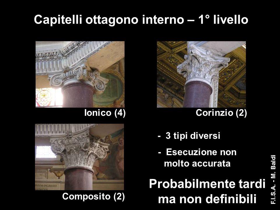 Capitelli ottagono interno – 1° livello