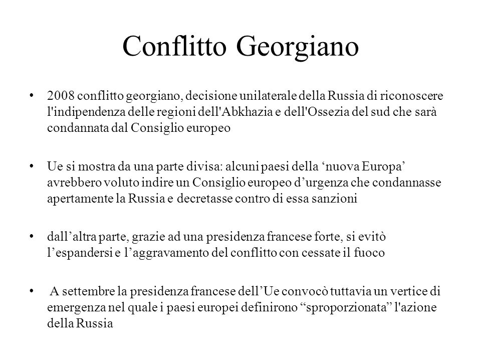 Conflitto Georgiano