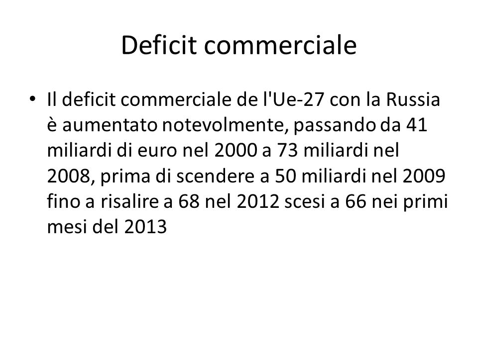 Deficit commerciale