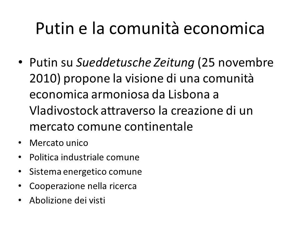 Putin e la comunità economica