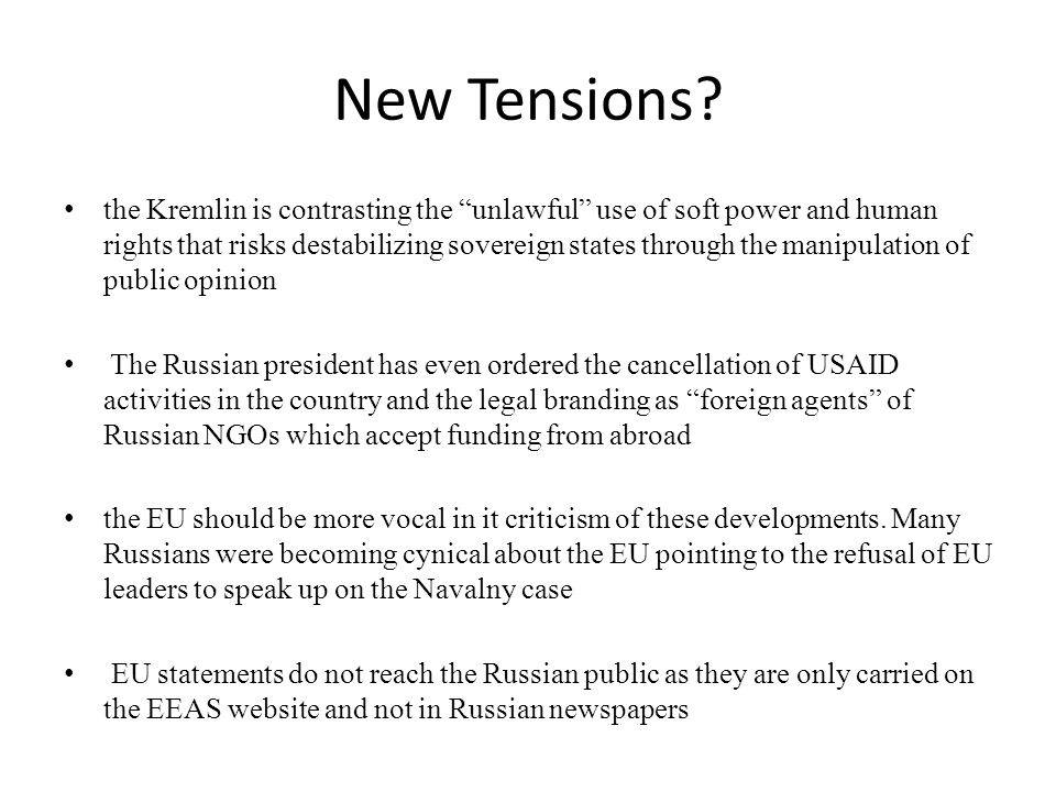 New Tensions