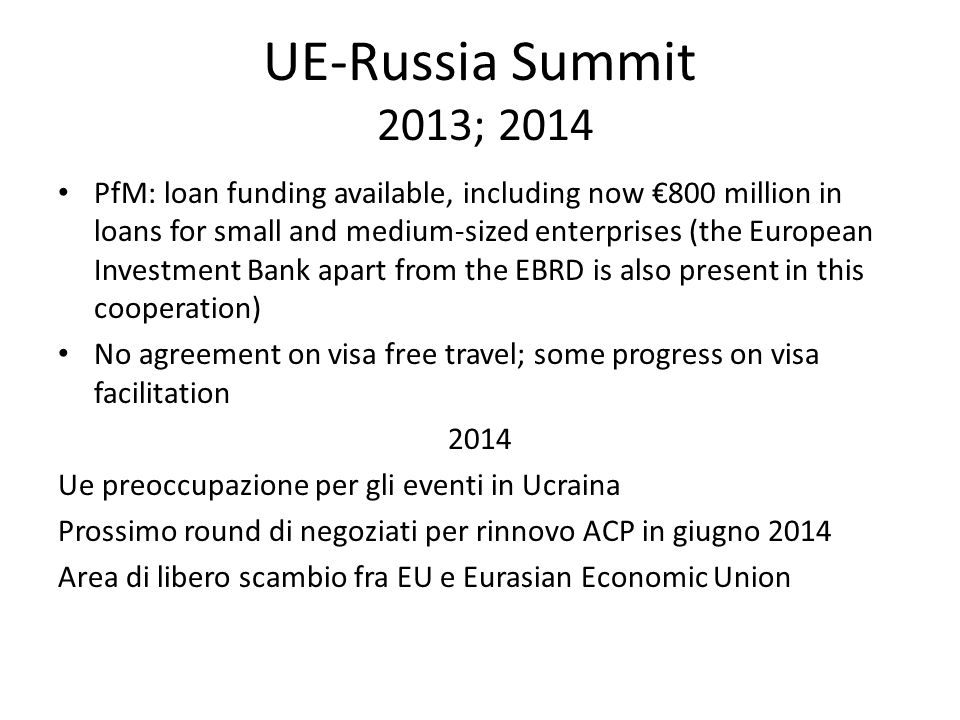 UE-Russia Summit 2013; 2014