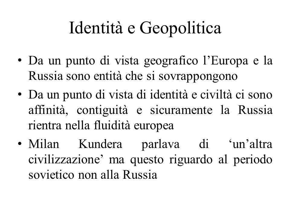 Identità e Geopolitica