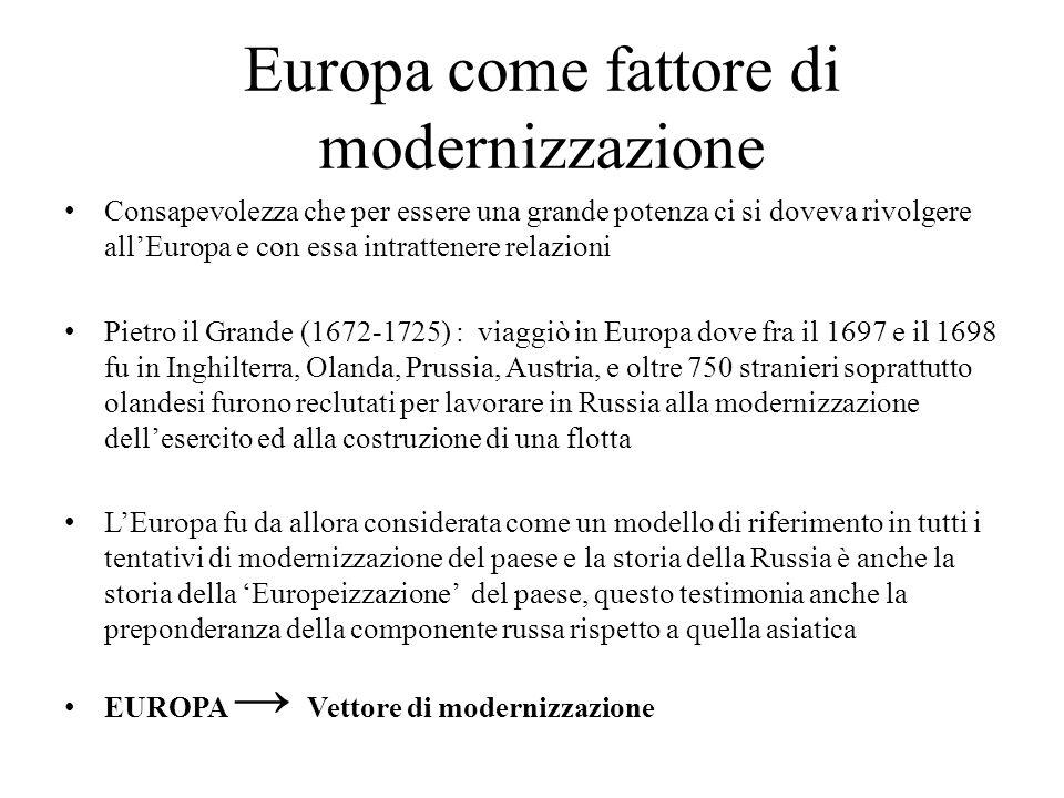 Europa come fattore di modernizzazione