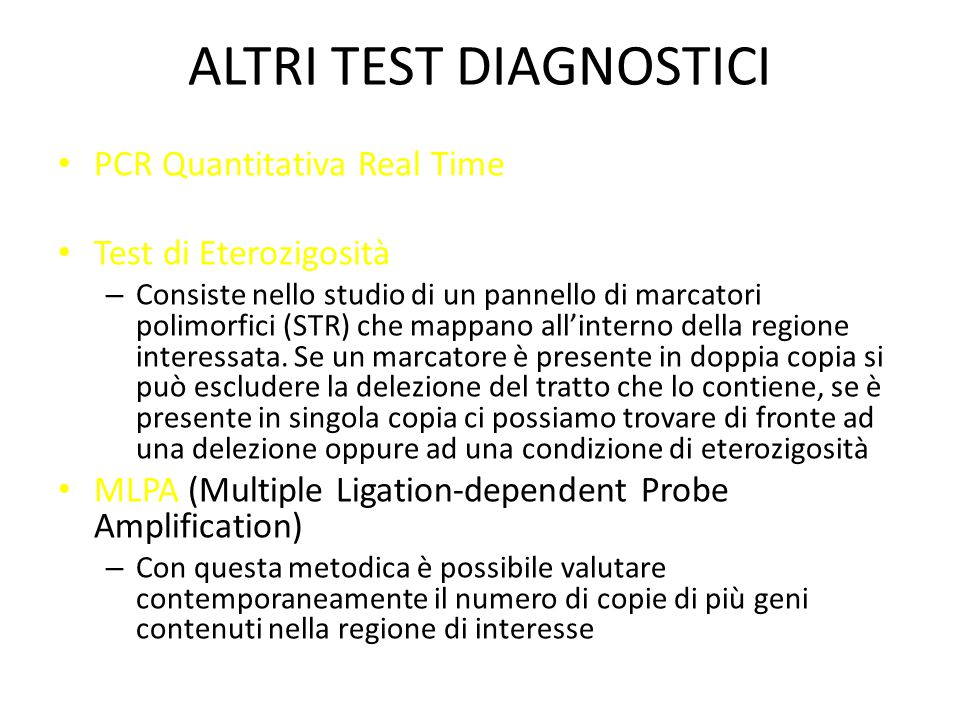 ALTRI TEST DIAGNOSTICI