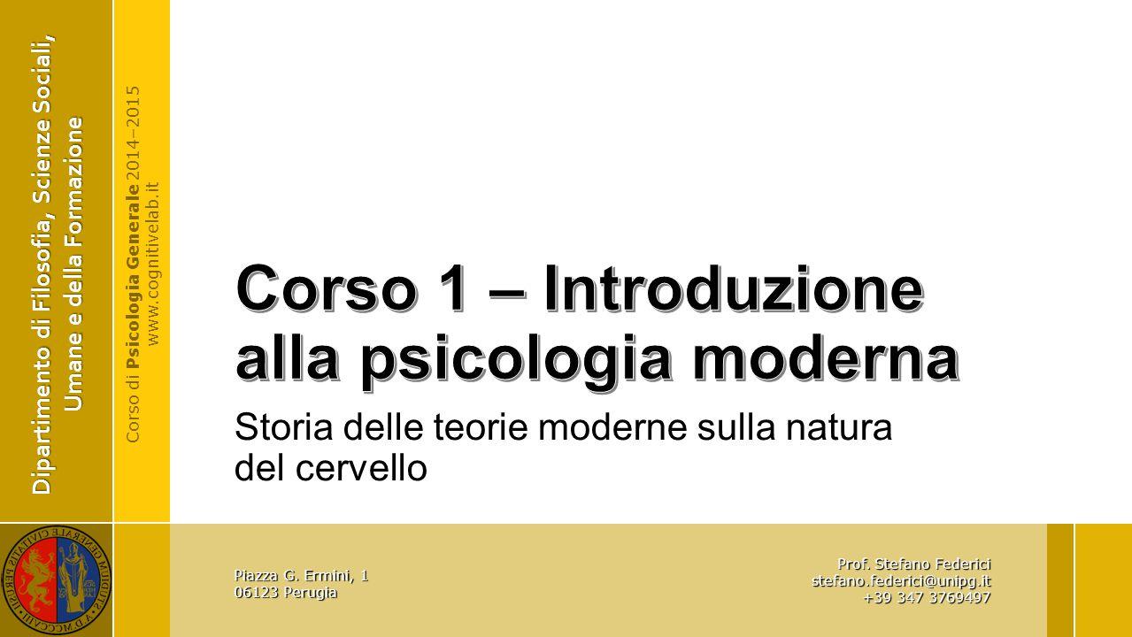 Corso 1 – Introduzione alla psicologia moderna