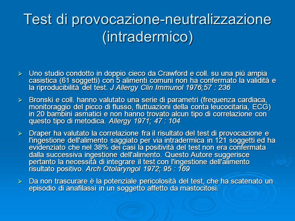 Test di provocazione-neutralizzazione (intradermico)