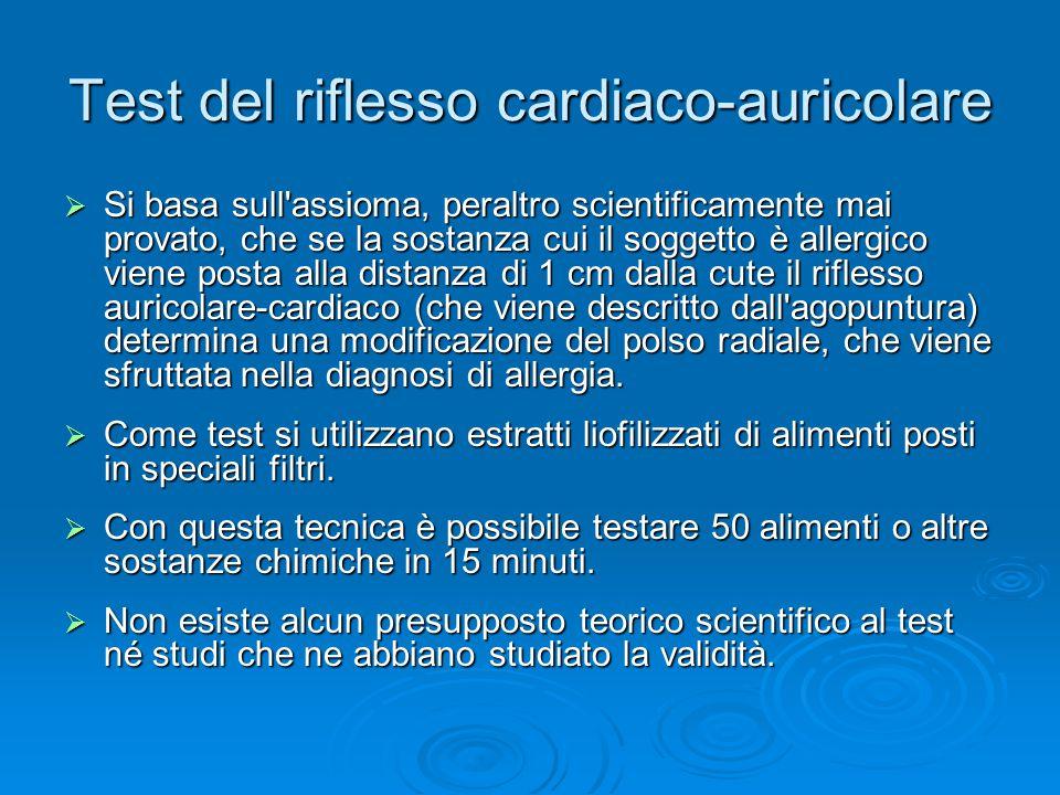 Test del riflesso cardiaco-auricolare