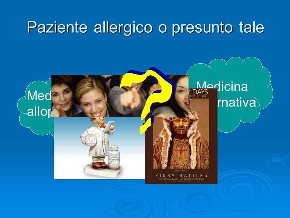 Paziente allergico o presunto tale