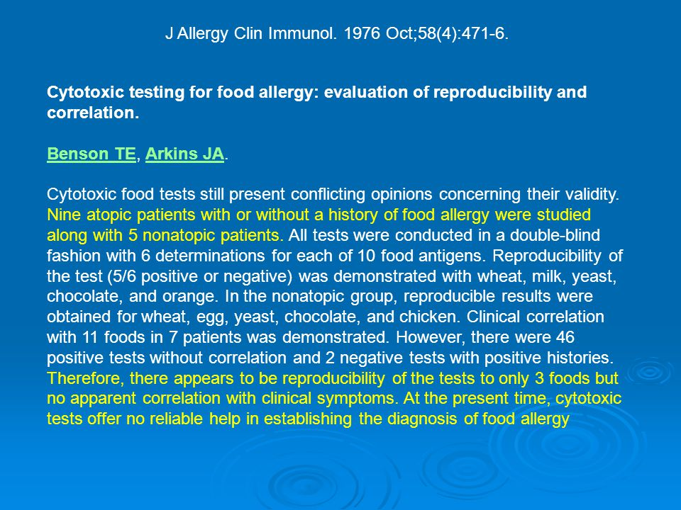 J Allergy Clin Immunol. 1976 Oct;58(4):471-6.