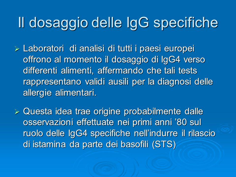 Il dosaggio delle IgG specifiche