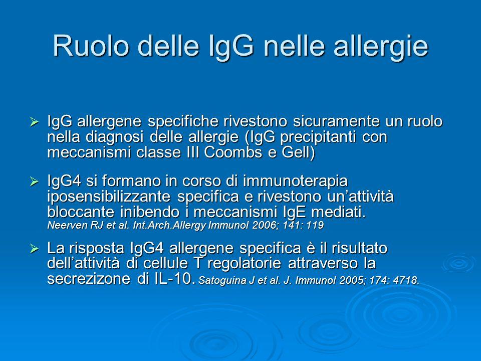 Ruolo delle IgG nelle allergie