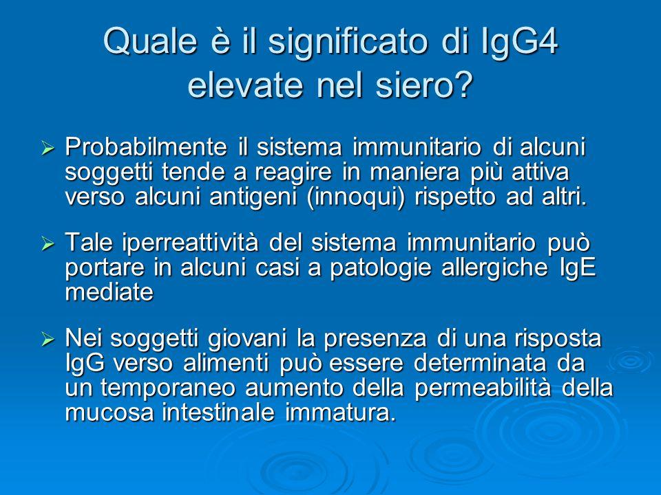 Quale è il significato di IgG4 elevate nel siero