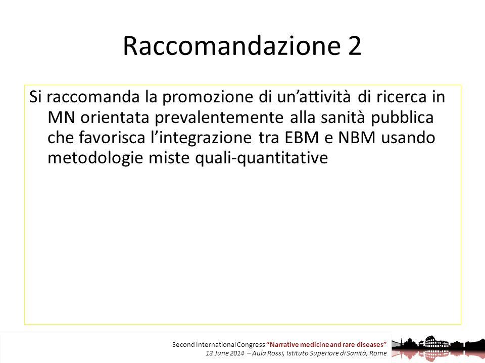 Raccomandazione 2