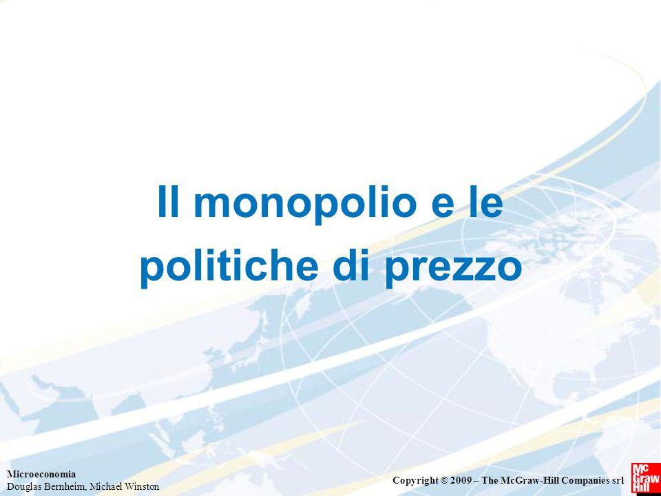 Il monopolio e le politiche di prezzo