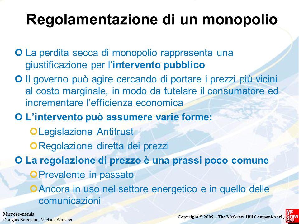 Regolamentazione di un monopolio