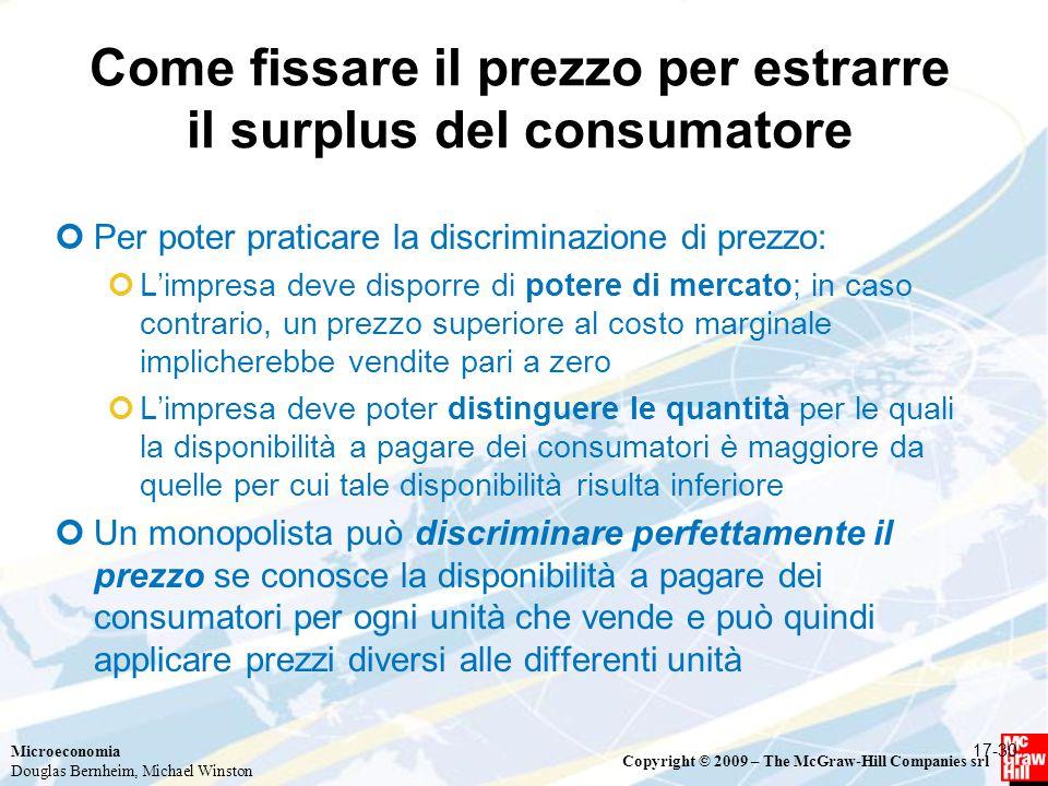 Come fissare il prezzo per estrarre il surplus del consumatore