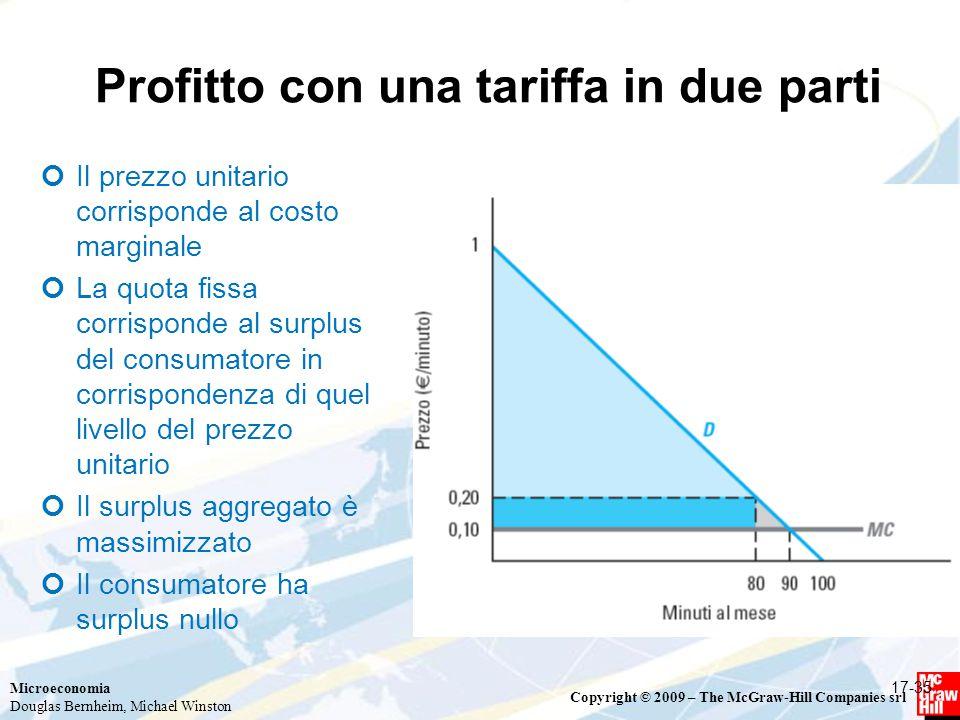 Profitto con una tariffa in due parti