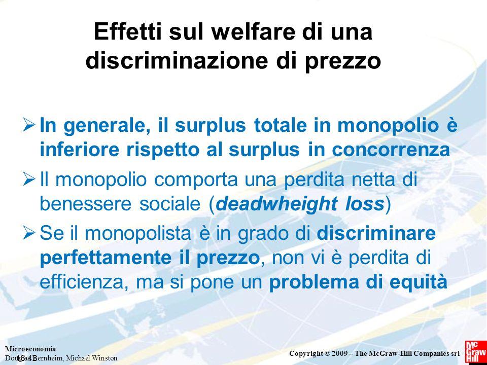 Effetti sul welfare di una discriminazione di prezzo