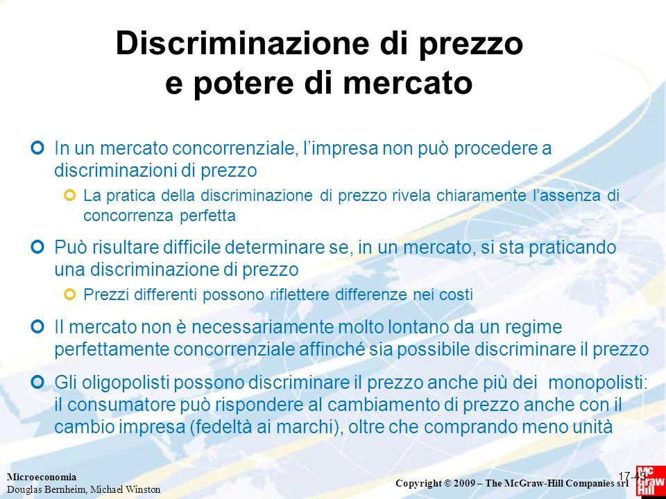Discriminazione di prezzo e potere di mercato